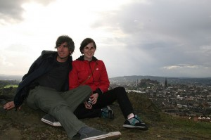 Joel and girlfriend Anna in Edinburgh, Scotland.